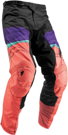 Pantaloni Dama THOR PULSE DEPTHS S9W OFFROAD PANTS BLACK/CORAL 5/6