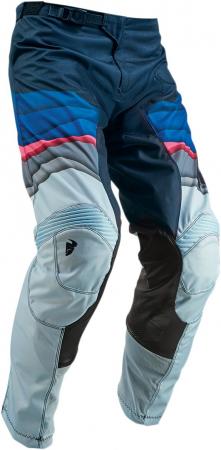 Pantaloni Dama THOR PULSE DEPTHS S9W OFFROAD PANTS OCEAN/PINK 3/4