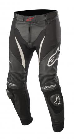 Pantaloni De Piele Alpinestars Sp X Negru/Alb 48