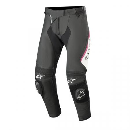 Pantaloni De Piele Alpinestars Stella Missile V2 Black/White/Pink 42