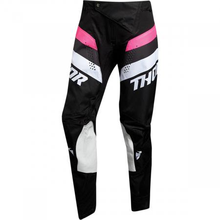 Pantaloni Off-Road Dama Thor Pls Rcr Negru/Roz 9/10