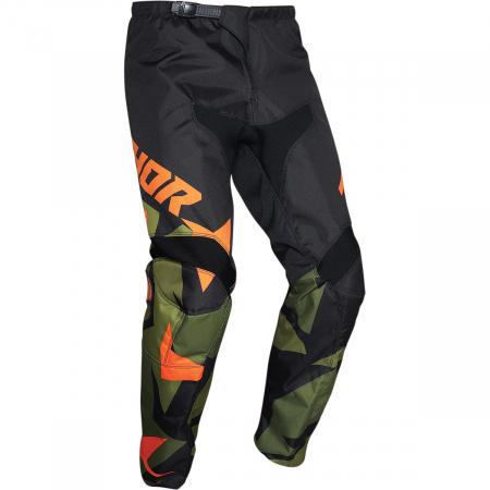 Pantaloni Off-Road  Thor Sctr Warshp Verde/Portocaliu 36