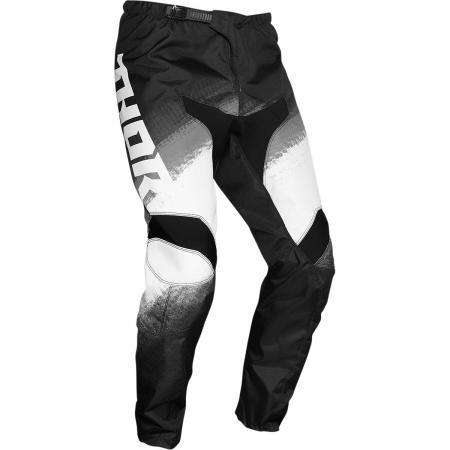 Pantaloni Off-Road  Thor Sector Vapr Negru/Alb 34