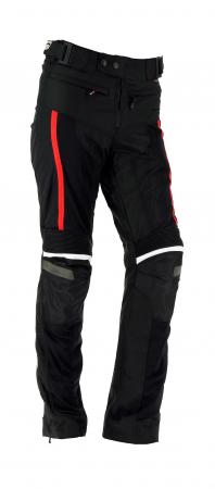 Pantaloni textil Airvent Evo Negru-Rosu
