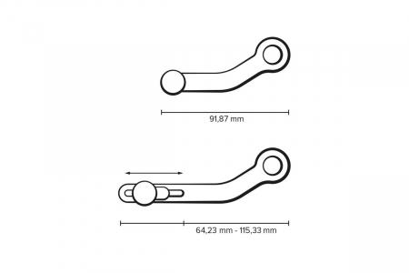 Pedala schimbator viteza Reglabil. Ducati Streetfighter V4 / S (19-). [7]