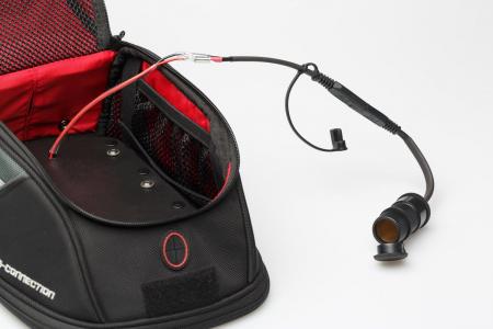 Priza bricheta cu capac rezistent la apa, cu cablu de 10cm si cu conector SAE 12V.1