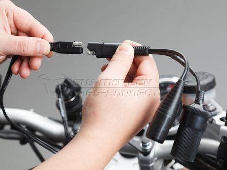 Priza bricheta si conector DIN cu conector SAE in forma Y, cu cablu 2x10cm 12 V1