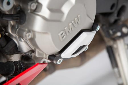 Protectie capac motor Negru/Argintiu. BMW S1000R / RR / XR. [2]