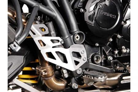Protectie teava esapament DREAPTA Argintiu Triumph Tiger 800 models (10-). [2]