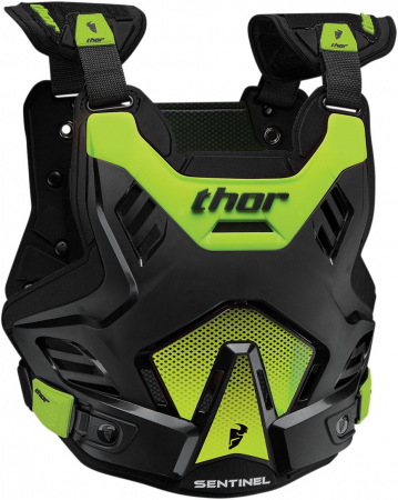 Protectie THOR SENTINEL GP S16 ROOST DEFLECTOR BLACK/FLO GREEN M/L