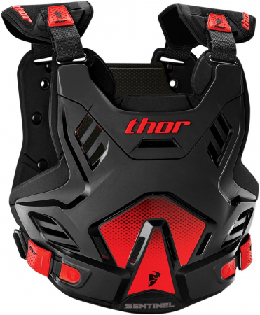 Protectie THOR SENTINEL GP S16 ROOST DEFLECTOR BLACK/RED XL/2XL