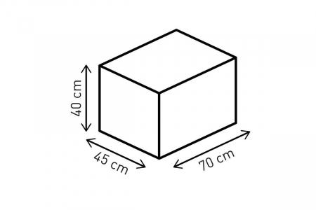 Racepack geanta codita 50-65 l. Ballistic Nylon. negru /Gri.1