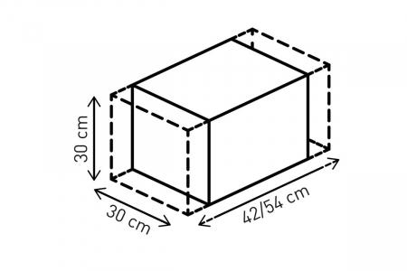 Rackpack geanta codita 36-45 l. Ballistic Nylon. negru /Gri.2