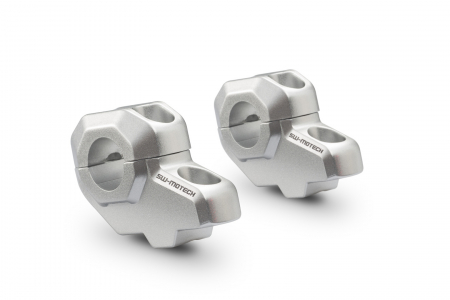Relocare ghidon D. 22 mm H=30 mm. Back 21 mm argintiu