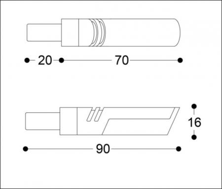 Semnalizatoare LED IDEA B-LUX NEGRE (pereche)5