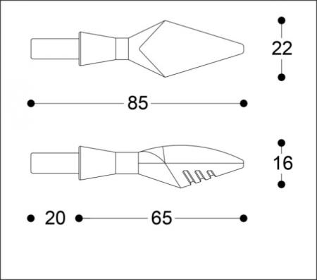 Semnalizatoare X-LED B-LUX NEGRE (pereche)6