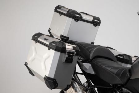 Set 3 cutii Adventure cu sistem fixare Argintiu. BMW R 1200 GS LC Adventure (16-).1