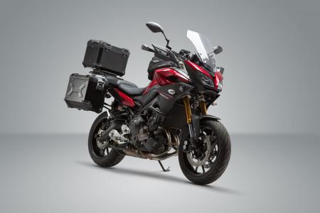 Set 3 cutii Adventure cu sistem fixare Argintiu. Yamaha MT-09 Tracer (14-).1