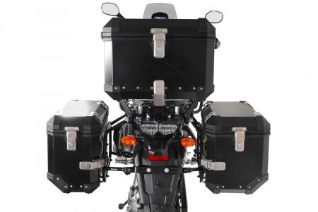 Set 3 cutii Adventure cu sistem fixare Argintiu. Yamaha XT1200Z Super Ténéré (10-).2