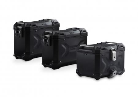 Set 3 cutii Adventure cu sistem fixare Negru. BMW F 800 / 700 / 650 GS (08-).0