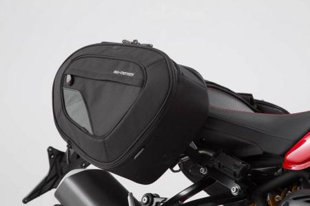 Set genti laterale Blaze cu sistem fixare H negru/gri Ducati Monster 1200 R (16-). [0]