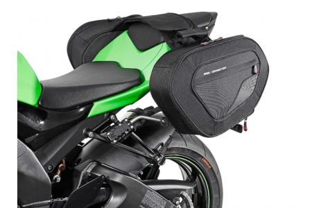 Set genti laterale Blaze cu sistem fixare H negru/gri Kawasaki Ninja ZX-10R (07-10).0