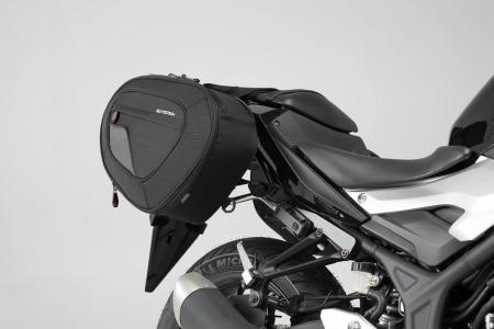 Set genti laterale Blaze cu sistem fixare H negru/gri Yamaha MT-03 (16-).1