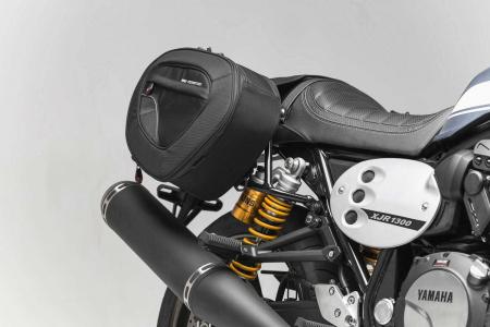 Set genti laterale Blaze cu sistem fixare H negru/gri Yamaha XJR1300 (15-).0