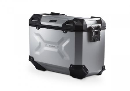 Side Case aluminiu TRAX ADV L 45 l. Dreapta. Argintiu. 49x28x37 cm.