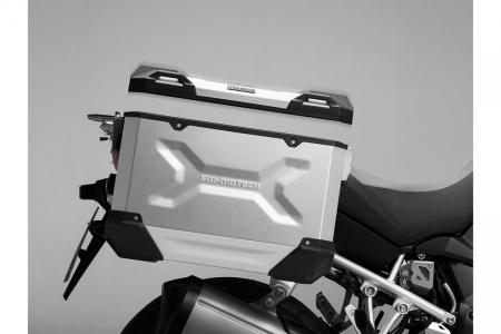 Side Case aluminiu TRAX ADV L 45 l. Dreapta. Argintiu. 49x28x37 cm.3
