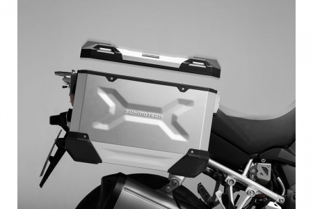 Side Case aluminiu TRAX ADV L 45 l. Stanga. Argintiu. 49x28x37 cm.3