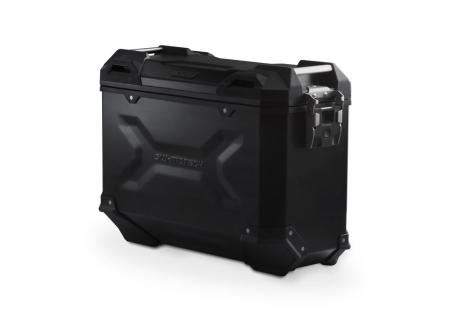 Side Case aluminiu TRAX ADV M 37 L. Dreapta. Negru. Ean: 40525720294350