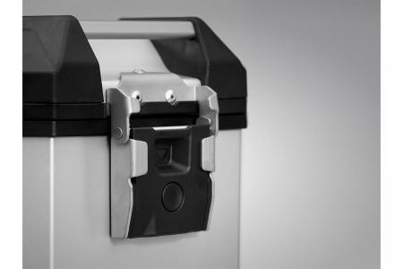 Side Case aluminiu TRAX ADV M 37 l. Stanga. Argintiu. 49x23x37 cm.1