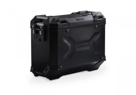 Side Case aluminiu TRAX ADV M 37 l. Stanga. Negru. 49x23x37 cm.0
