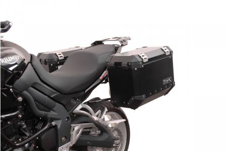 Sistem cutii laterale Trax Ion aluminiu Negru. 45/37 l. Triumph Tiger 1050 (06-12). [2]