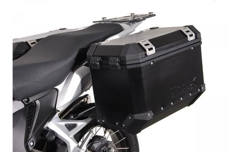 Sistem cutii laterale Trax Ion aluminiu Negru. 45/45 l. Honda VFR1200X Crosstourer (11-). [1]