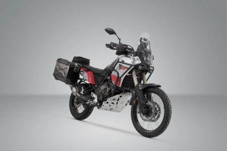 Sistem cutii laterale Trax Adv aluminiu 37/37 l. + Akrapovic Yamaha Ténéré 700 (19-20). [1]