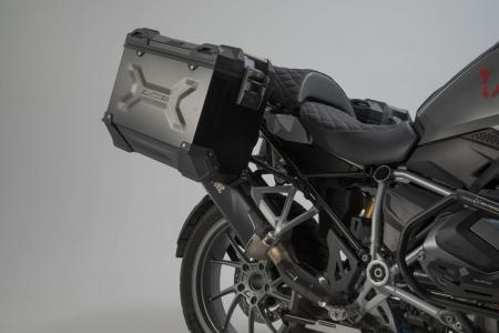 Sistem cutii laterale Trax Adv aluminiu 45/37 l. + Akrapovic BMW R 1250 GS/Adv/Rallye (18-). [2]