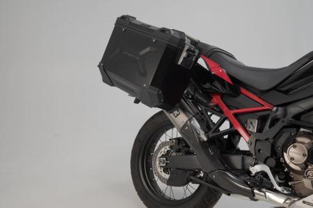 Sistem cutii laterale Trax Adv aluminiu 45/37 l. + Akrapovic Honda CRF1100L Africa Twin (19-). [2]