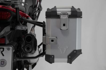 Sistem cutii laterale Trax Adv aluminiu 45/37 l. + Akrapovic Honda CRF1100L Africa Twin (19-). [7]