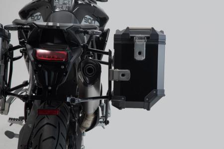 Sistem cutii laterale Trax Adv aluminiu 45/37 l. + Akrapovic Triumph Tiger 900 (19-). [7]