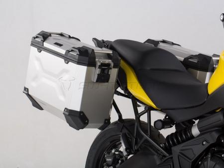 Sistem cutii laterale Trax Adv aluminiu Argintiu. 37/37 l. Kawasaki Versys 650 (15-).