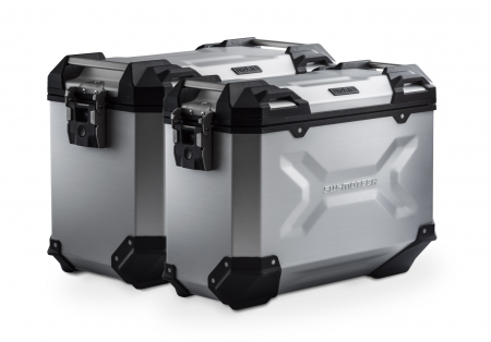 Sistem cutii laterale Trax Adv aluminiu Argintiu. 45/37 l. Honda XRV750 Africa Twin (93-03).