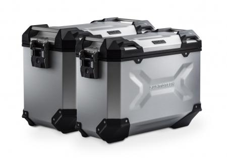 Sistem cutii laterale Trax Adv aluminiu Argintiu. 45/37 l. Triumph Tiger 1050 (06-12).