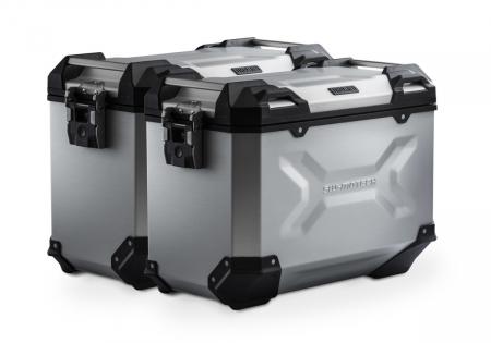 Sistem cutii laterale Trax Adv aluminiu argintiu. 37/37 l. CB500X, CB500F / CBR500R (-15).