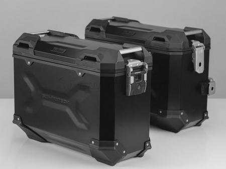 Sistem cutii laterale Trax Adv aluminiu Negru . 37/37 l. BMW F650GS (-07) / G 650GS (11-).