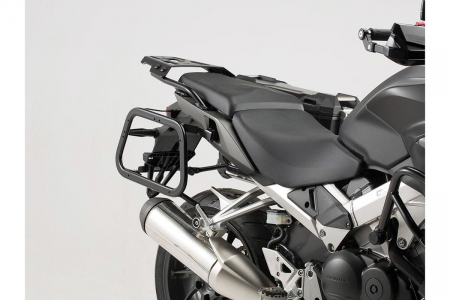Sistem cutii laterale TRAX ADV aluminiu Negru . 37/37 l. Honda VFR800X Crossrunner (15-).1