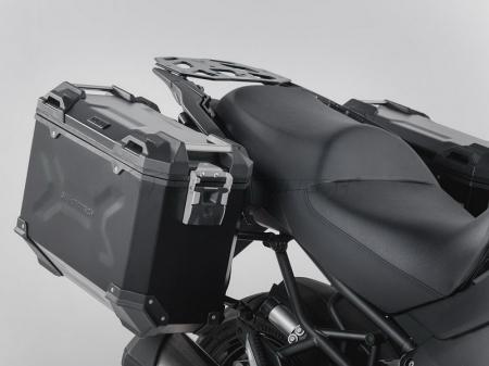 Sistem cutii laterale Trax Adv aluminiu Negru . 37/37 l. Kawasaki Versys 1000 (15-). [1]