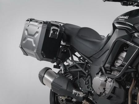 Sistem cutii laterale Trax Adv aluminiu Negru . 37/37 l. Kawasaki Versys 1000 (15-). [0]