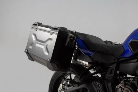 Sistem cutii laterale Trax Adv aluminiu Negru . 37/37 l. Yamaha MT-07 Tracer (16-). [1]